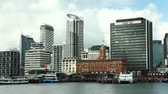 Auckland skyline Stock Footage