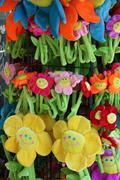Plush flowers Stock Photos
