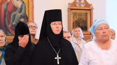 Liturgy in a Russian Orthodox Church Stock Footage