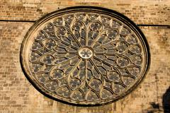 Stained glass rosette Stock Photos