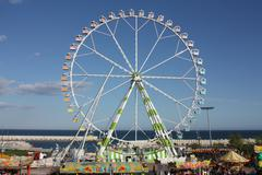 Ferris wheel in the amusement park of the feria de abril, Stock Photos