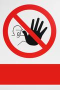 Stock Illustration of prohibited. no pass