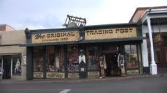 Santa Fe Traffic at Plaza-The Original Trading Post Stock Footage
