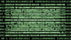 Binary code background loop. Stock Footage