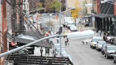 Urban  New York Scene Stock Footage