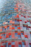 Torre agbar in barcelona Stock Photos