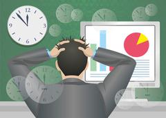 Deadline in office. Stock Illustration