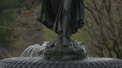 Bethesda Fountain Close Up - stock footage