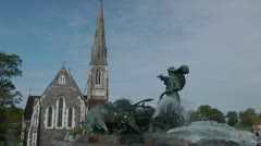 Copenhagen St Alban Church CoE Stock Footage