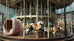 Honfleur Carousel Stock Footage