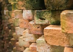 Stock Photo of close up old brick wall