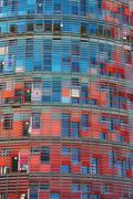 torre agbar in barcelona - stock photo