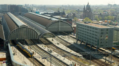 Timelapse trainstation Amsterdam Stock Footage