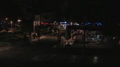 Kaleici harbor promenade at night Stock Footage
