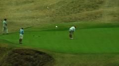 Fat Golfer Stock Footage