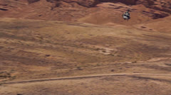 Helicopter Landing Desert 01 Stock Footage