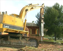 House demolition Stock Footage