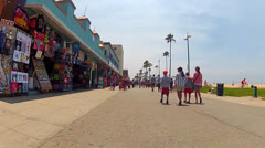 POV Rolling Down Venice Beach Boardwalk On Summer Day 1 Stock Footage