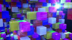 Abstract colorful cubes Stock Footage