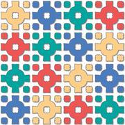 Cross pattern varied color Stock Illustration