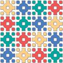 Stock Illustration of cross pattern varied color