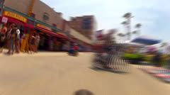 Time Lapse- POV Riding Bicycle On Venice Beach Boardwalk 1 - stock footage