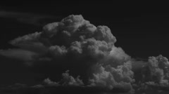 Clouds At Night Stock Footage