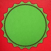 green star leather stripe - stock illustration