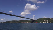 Stock Video Footage of Bosphorus bridge in İstanbul