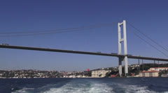 Bosphorus bridge in İstanbul - stock footage