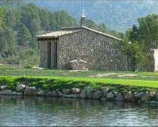 Stone hut  Stock Footage