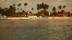 Relaxing Resort Beach Recife Brazil HD Video Stock Footage
