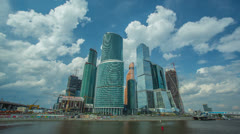 The Moscow sky-scrapers & clouds timelapse,RAW VIDEO: 6K,4K & 1080p resolutions Stock Footage