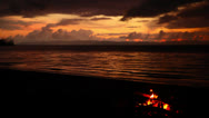 Stock Video Footage of Bonfire On Beach In Costa Rica HD Video