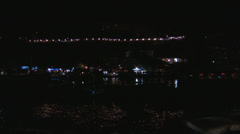 Kaleici harbor night scene with distant lights Stock Footage