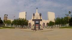 Los Angeles Memorial Coliseum Entrance Plaza 1 - stock footage