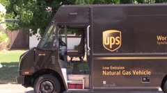 Ups truck ,delivery Stock Footage