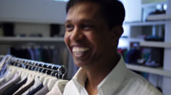 Mixed Race Adult smiling in camera Stock Footage