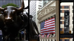 Wall Street composite Stock Footage