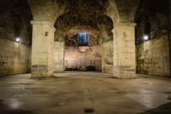 Rustic underground room Stock Photos