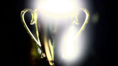 Trophy gold golden Stock Footage