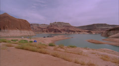 Canyon,Lake Powel,House boats,Time Laspe,Ut Stock Footage