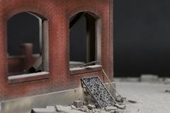 Red brick miniature house. - stock photo