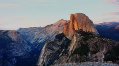 Half dome from glacier point Stock Footage