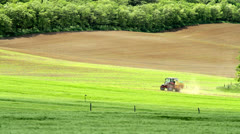 Spraying of a agricultural land Stock Footage