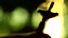 Cross crucifix jesus bless Stock Footage