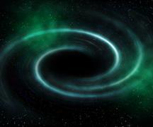 Stock Illustration of black hole universe background