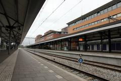 Trainstation Hilversum - stock photo