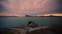 Time Lapse - Belle Isle, Detroit - stock footage