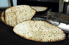 glat kosher matzah factory - stock photo